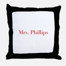 Mrs Phillips-bod red Throw Pillow