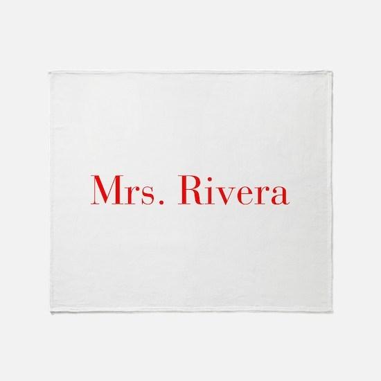 Mrs Rivera-bod red Throw Blanket