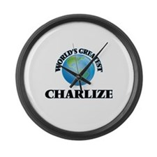 World's Greatest Charlize Large Wall Clock