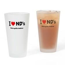 I Love NDs Drinking Glass