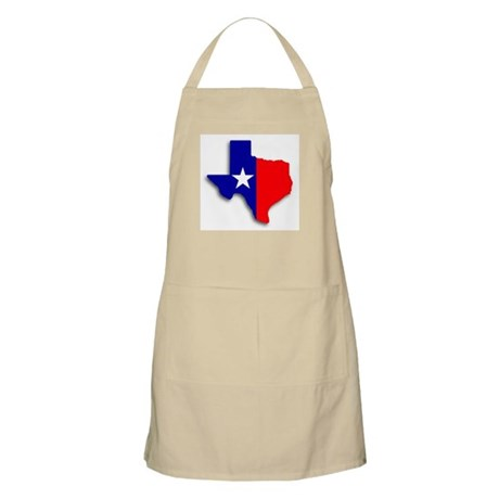 State Of Texas Shape BBQ Apron