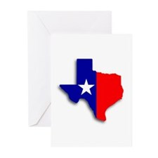 State Of Texas Shape Greeting Cards (Pk of 10)