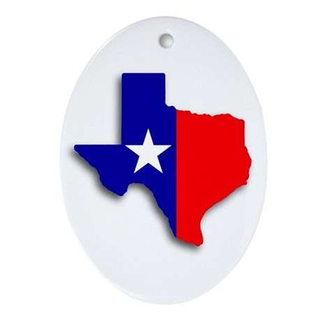 State Of Texas Shape Oval Ornament