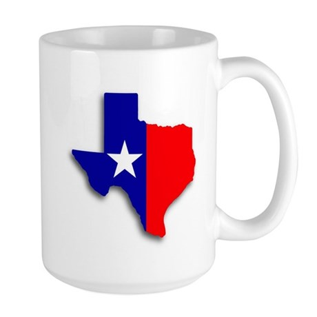State Of Texas Shape Large Mug