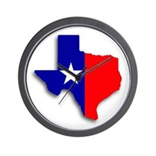 State Of Texas Shape Wall Clock