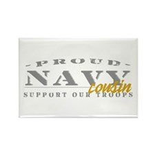 Proud Navy Cousin (gold) Rectangle Magnet