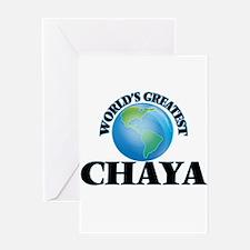 World's Greatest Chaya Greeting Cards