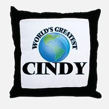 World's Greatest Cindy Throw Pillow