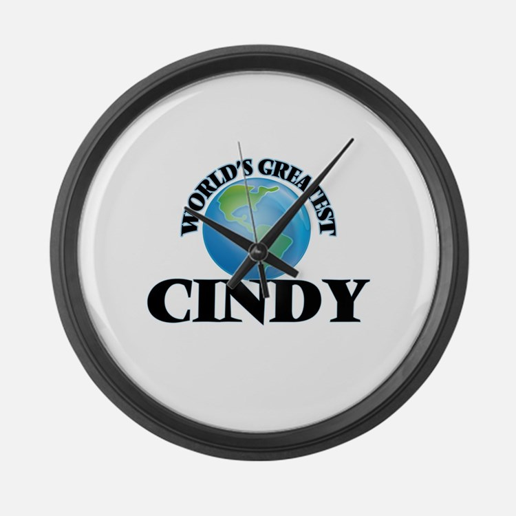 World's Greatest Cindy Large Wall Clock