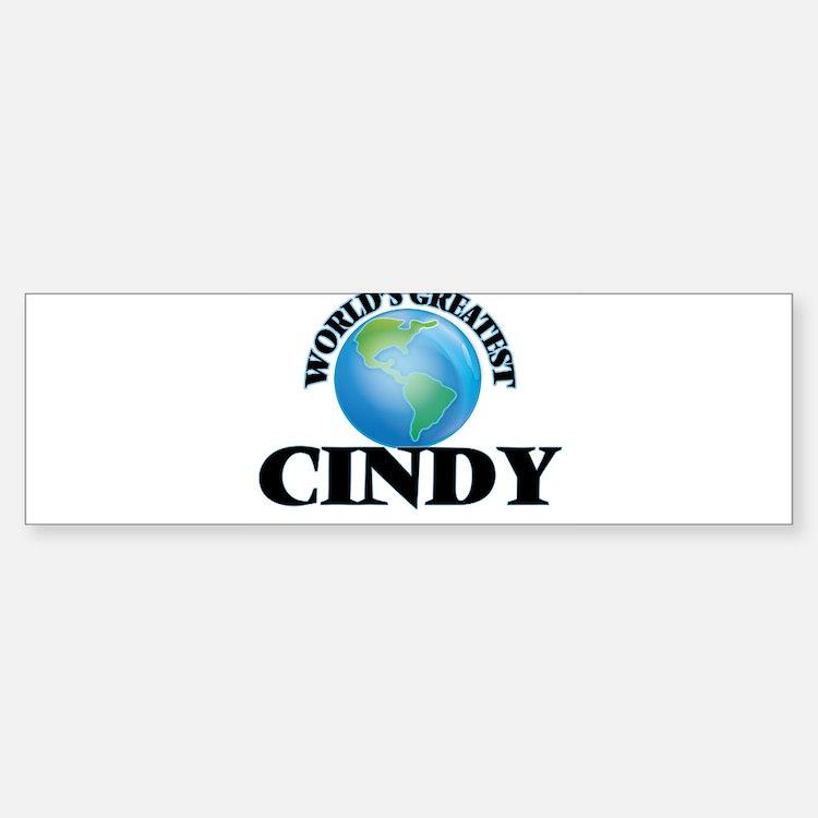 World's Greatest Cindy Bumper Bumper Bumper Sticker