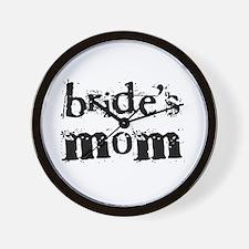 Bride's Mom Wall Clock