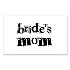 Bride's Mom Rectangle Decal