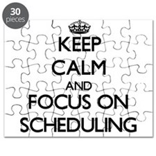 Keep Calm and focus on Scheduling Puzzle