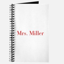 Mrs Miller-bod red Journal