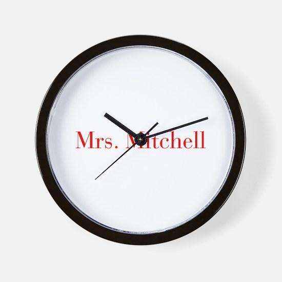 Mrs Mitchell-bod red Wall Clock