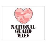 National Guard Wife Camo Heart Small Poster
