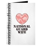 National Guard Wife Camo Heart Journal