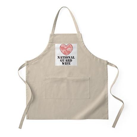 National Guard Wife Pink Camo Heart BBQ Apron