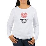 National Guard Wife Camo Heart Long Sleeve T-shirt