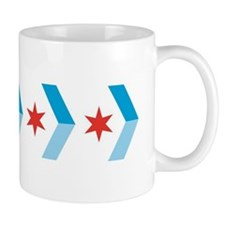 Chicago Flag Chevron Arrows Mug