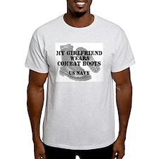 My Girlfriend Wears Navy CB T-Shirt