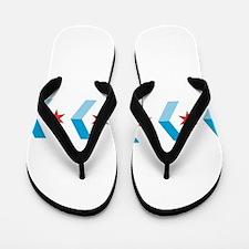 Chicago Flag Chevron Arrows Flip Flops