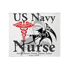 Navy Nurse Corps Throw Blanket