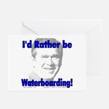 Waterboarding Bush Greeting Cards (Pk of 10)