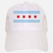 Chicago Flag White Background Baseball Baseball Cap
