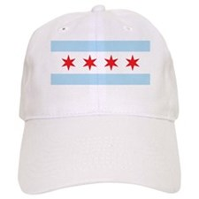 Chicago Flag White Background Baseball Cap