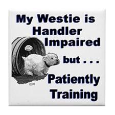 Westie Agility Tile Coaster