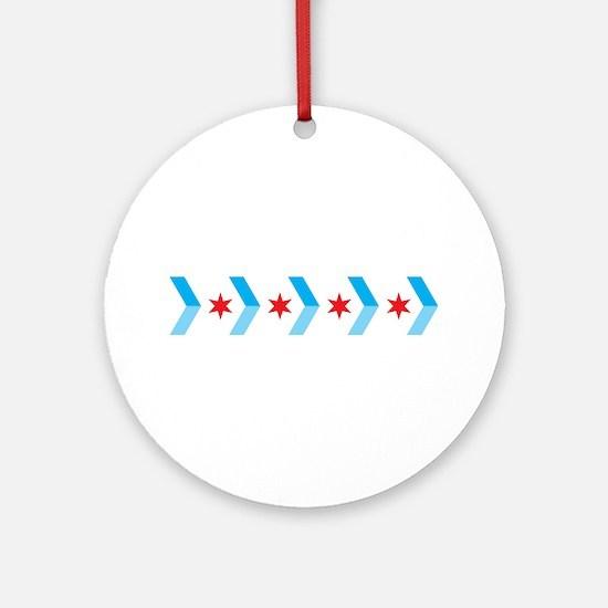 Arrow Chicago Flag Ornament (Round)