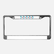 Arrow Chicago Flag License Plate Frame