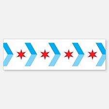 Arrow Chicago Flag Bumper Bumper Bumper Sticker