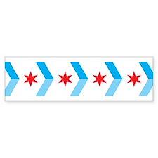 Arrow Chicago Flag Bumper Bumper Sticker