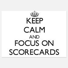 Keep Calm and focus on Scorecards Invitations