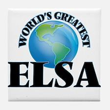 World's Greatest Elsa Tile Coaster