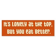 Lonely at the Top Bumper Car Sticker