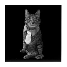 Cool Cat with an attitude Tile Coaster