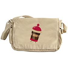 Pink Press Messenger Bag
