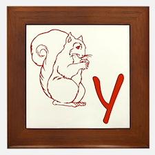 Squirrely Framed Tile