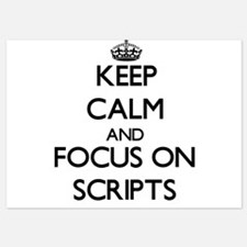 Keep Calm and focus on Scripts Invitations