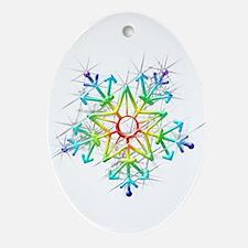 Snowflake Star Ornament (Oval)