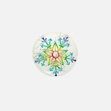 Snowflake Star Mini Button
