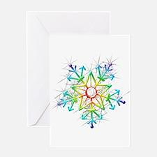 Snowflake Star Greeting Cards