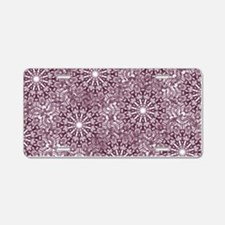 Purple Lace Aluminum License Plate