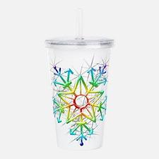 Snowflake Star Acrylic Double-wall Tumbler