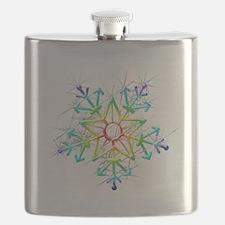 Snowflake Star Flask