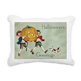 Vintage halloween Throw Pillows