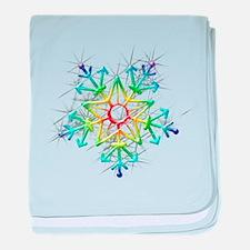 Snowflake Star baby blanket